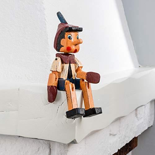 Wohnideen Kupke Handgefertigte Figur Pinocchio ca. 28cm aus Naturholz