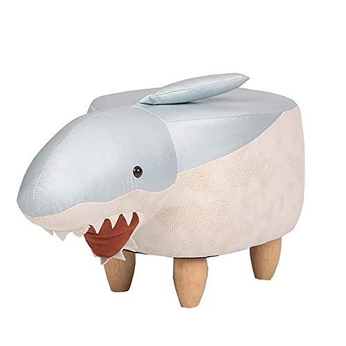 Accesorios de decoración Banco de cambio de zapatos Reposapiés de madera maciza Taburete de zapato de tiburón creativo Taburete de diseñador Almacenamiento Taburete bajo Modelo Habitación Reposapié