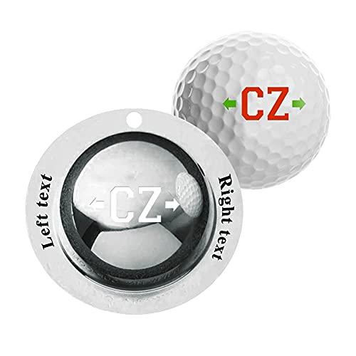 MeMoShe Golfbälle Markieren mit Gravur,Personalsierte Golfball Markierer mit Buchstaben,Golfball Markierer Schablone Personalsierte