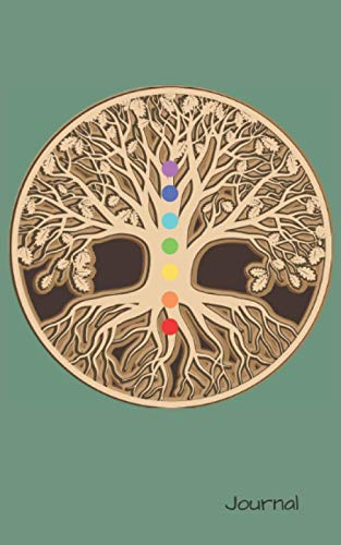 "Chakra Tree of Life Journal: Sage Green 3D Brown & Beige Tree of Life Design with Cream Blank Pages Notebook Planner. Great Present for Birthday, ... Kids, Adults, Girls & Boys. 5""x8"" 100 pages"