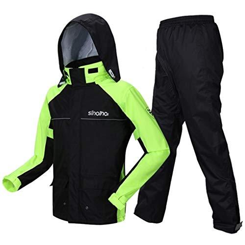 Home-life Pluie Imperméable Poncho, Pluie Haute Visibilité Veste Léger Durable Raincoat Vêtements De Travail Étanches (Size : L)