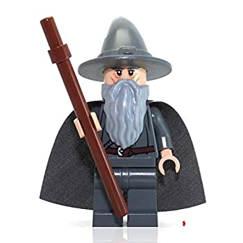 Lego The Lord of the Rings Minifigure  Gandalf the Gray Wizard  with Staff