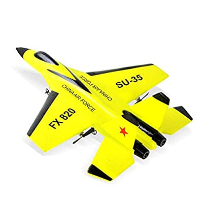 TXYFYP Mini Drone RC Fight Fixed Wing RC Airplane FX-820 2.4G Remote Control Aircraft Model RC Drone Helicopter Quadcopter Jet Fighter for Kids and Beginners