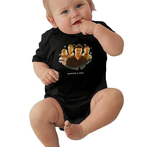 shuangshao liu Mumford & Sons Kleines Kind Unisex Weiche Babyunterwäsche Kurzarm 0-24 Monate Schwarz