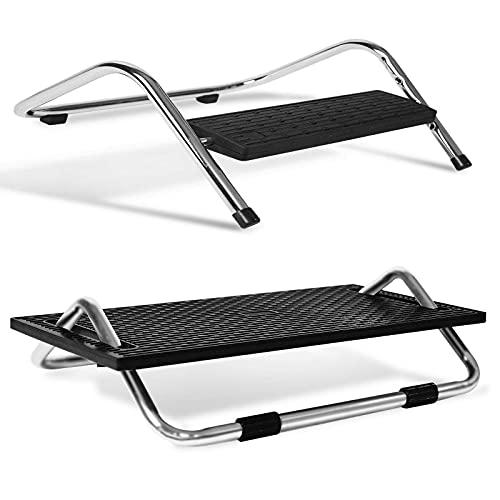 Fußstütze - Ergonomische Fußablage für Büro & Homeoffice - Fussstütze Schreibtisch Beinablage - Stufenlos verstellbar - Hocker Fußhocker - Desk Gadgets - Fussablage (Friend)