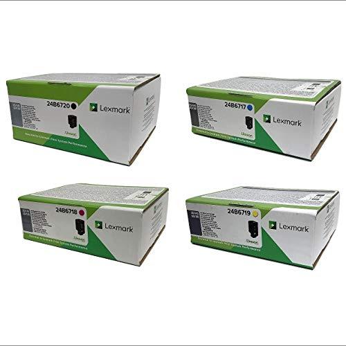 Lexmark 24B6720 24B6717 24B6718 24B6719 XC4140 XC4150 (Black Cyan Magenta Yellow, 4-Pack) in Retail Packaging