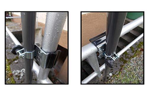 Holly universele parapluhouder - roestvrij staal - Duo-functie houder VE-HO-SC - voor kapstokken tot 38 mm Ø aan leuningen - rondingen - hoekige elementen tot 55 mm Ø -