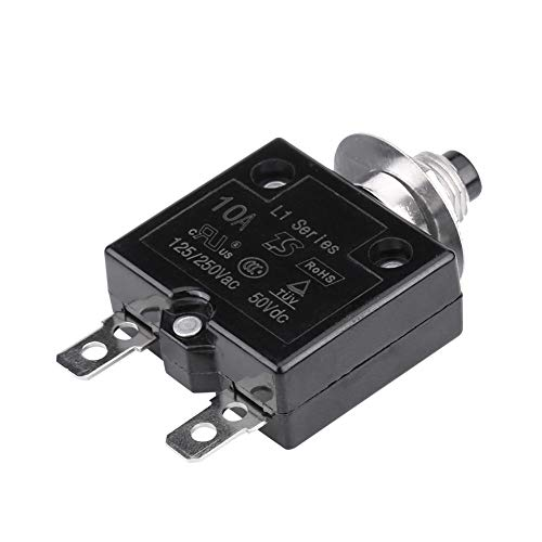 KIMISS Disyuntores de Circuito Interruptor Térmico de Reajuste Manual Protector de sobrecarga actual(10A)