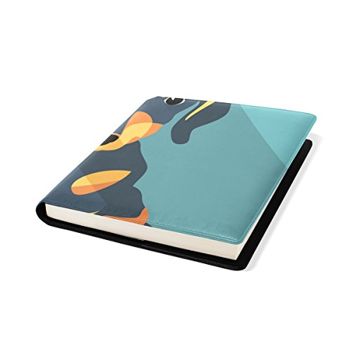 COOSUN Dog Teckel Book Cover Sox Stretchable Livre, La Plupart des Fits Relié jusqu'à 9 manuels x 11. adhésif Libre, école Cuir PU Livre Protector 9 x 11 Pouces Multicolore