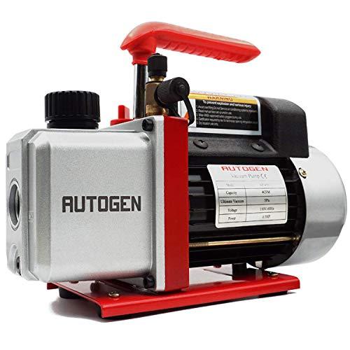 AUTOGEN Single-Stage Rotary Vane Vacuum Pump 4CFM 5 Pa 1/3HP for Air Conditioner Refrigerant HVAC...