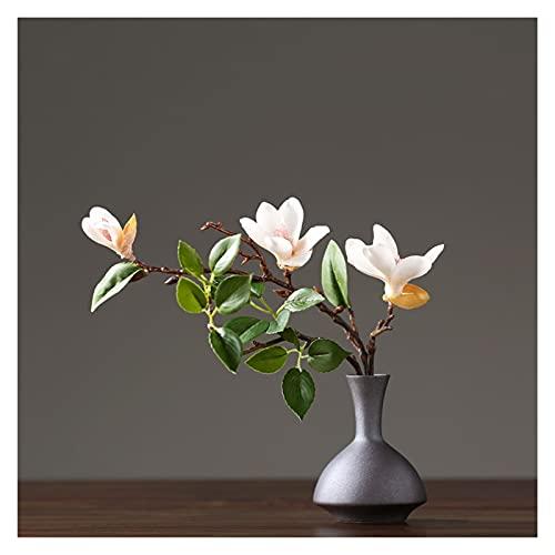 DIWA Flores de simulación de Seda, Ramos de Flores Falsas y jarrones de cerámica para el hogar/Hotel/Restaurante/decoración de Flores (Color : A)