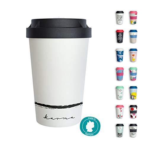 heybico Coffee to go Becher Made in Germany   Frei von Melamin & ohne Bambusfasern   Biologisch abbaubar & kompostierbar (Karma)