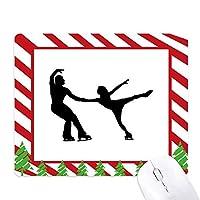 スポーツ・体育選手のスケート ゴムクリスマスキャンディマウスパッド
