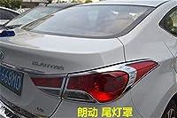 Abs クローム車のフロント + リアテールライトランプカバートリム現代エラントラアバンテ用 I35 2012 2013 2014 2015 テールヘッドライトカバー-2