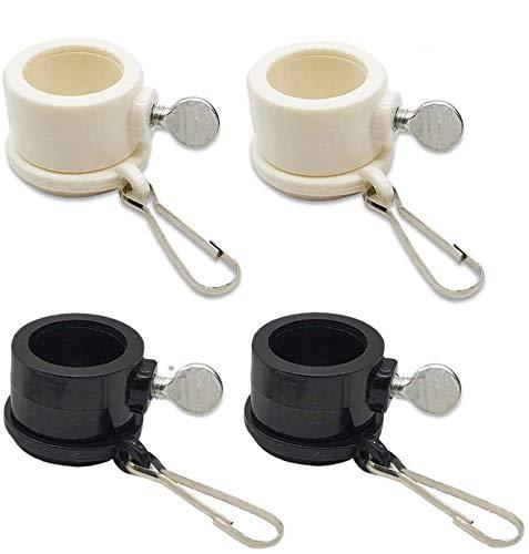 JEZOMONY Fahnenmast Befestigungsringe 1 Pol Durchmesser PVC Fahnenmast Rotierende Ringe Fahnenbefestigung Ringe 360 ° Anti Wrap Verschluss Hardware 4 Stück