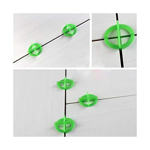 XYXXBB Espaciador de Base de plástico de Azulejos, 200pcs Nivelación de Azulejos de Cruz Verde reciclable 1.5/2.0/3.0mm Herramienta de construcción Herramienta