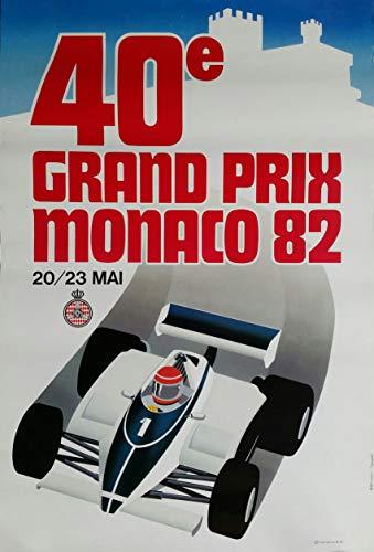 Póster de Monaco 40º Gran Prix 1982, tamaño 50 x 70 cm, Papel 300 g/m², Venta del Archivo Digital HD. (Tienda: exhibición de minoristage.FR).