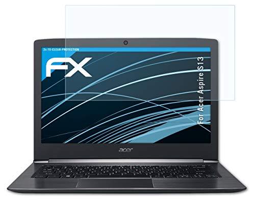 atFolix Schutzfolie kompatibel mit Acer Aspire S13 Folie, ultraklare FX Bildschirmschutzfolie (2X)