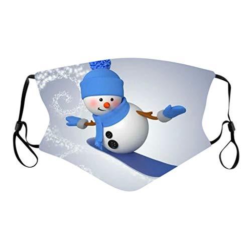 NN/A Erwachsene Mund und Nasenschutz mit Motiv Weihnachten Mundschutz Waschbar und Wiederverwendbar Weihnachts Multifunktionstuch