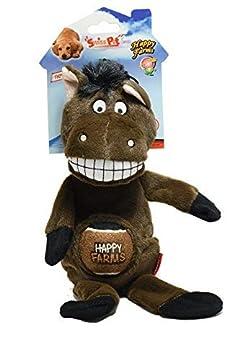 2 IN 1: Das Happy Farms Hundespielzeug von SwissPet ist nicht nur ein Plüschtier, sondern hat noch einen Tennisball für Wurfspiele dabei. Mit Quietscher: Der Ball im Bauch hat einen integrierten Quietscher und sorgt so für doppelten Spaß Für alle Fäl...