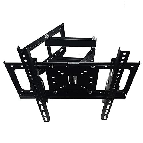 Soporte de montaje en pared para TV de movimiento completo, giratorio, telescópico y extensible para monitor de pantalla de ordenador portátil LCD de 26-52 pulgadas, carga máxima de 35 kg
