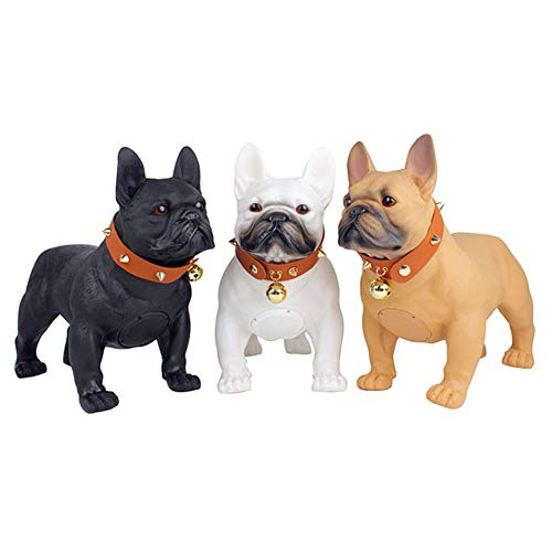 SLTZ Creative French Bulldog Bluetooth Speaker Portable Wireless Speaker Support FM Radio TF Card/AUX/USB Input,Best Gift for Birthday Christmas,Brown
