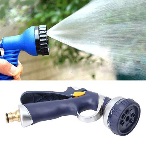 Luoshan Pistola de agua de jardín de 8 funciones Pistola de pulverización multifuncional Pistola de pulverización de jardinería Pistolas de riego Boquillas de manguera ajustables Pistola de agua de ja
