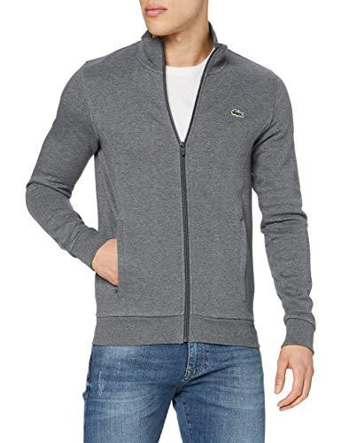Lacoste Sport Herren SH7616 Reißverschluss Jacke, Grau (Noir Pitch 050), XXX-Large (Herstellergröße: 8)