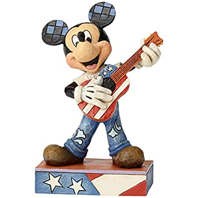 Enesco Disney Traditions by Jim Shore Mickey Mouse Rock and Roll Americana Figurine, 6.38 Inch, Multicolor