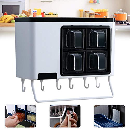 BSTQC Especiero Cocina para Guardar Organizador Multifuncional Punch-Libre de condimentos Caja de Almacenamiento de Cocina Cuchillos Titular Estante de Especia Organizador