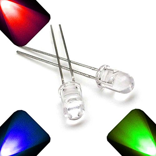 5mm Round Top RGB Slow Auto Change LED - Ultra Bright (Pack of 20)