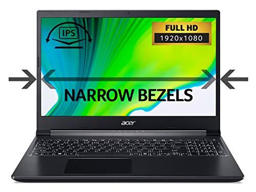 Acer Aspire 7 A715-75G 15.6 inch Gaming Laptop (Intel Core i5-9300H, 8GB RAM, 512GB SSD, NVIDIA GTX 1650, Full HD Display, Windows 10, Black)