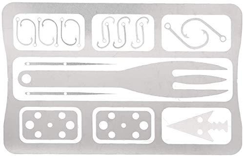 TAIDENG Tarjeta de supervivencia de 10 x 6,5 x 0,2 cm, de color plateado