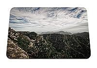 22cmx18cm マウスパッド (山の崖の頂点) パターンカスタムの マウスパッド
