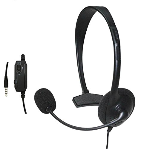 Creazy Wired Headset Headphone Earphone Microphone for Sony PlayStation 4 PS4 Game