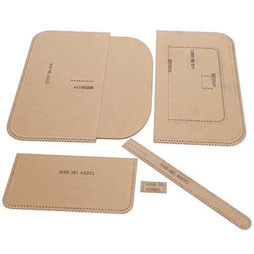 Verhindern Sie Kratzer einfach zu lagern, Brieftasche Schablone, transparente Handtasche Vorlage, für Handarbeit Handwerk für DIY Ledertasche Handwerk Liebhaber Frauen