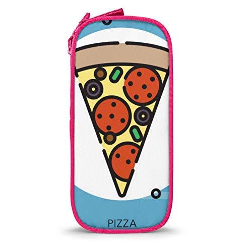 Estuche de gran capacidad para lápices con compartimentos para pizza, para niños, estudiantes, adultos, oficina