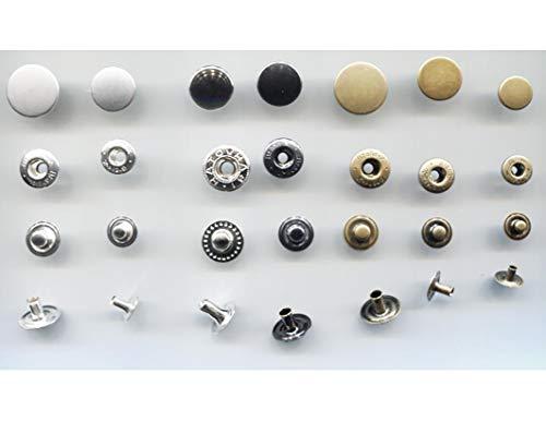 無地タイプ2本バネホック 10組入り 専用工具は付いておりませんので、別途ご購入下さい。 (18mm, アンティックゴールド)818-6BX-PABL-NONDESIGN-HOOK