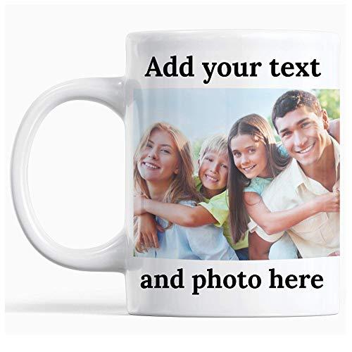 Taza té cerámica uso prolongado s W Imagen Texto Nombre en s Gran Mamá Papá Oficina Navidad Taza Personalizada Taza bebida café Regalo