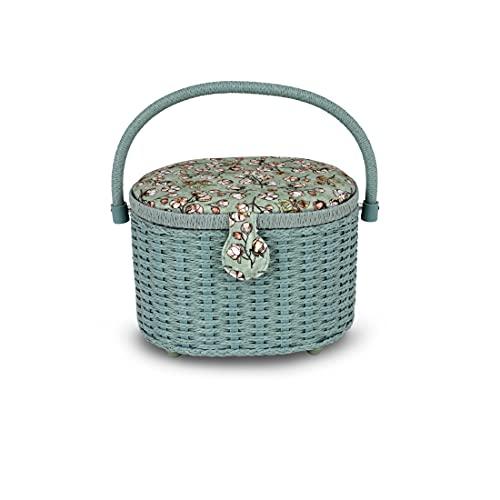 Dritz Sewing Basket, Soft Green Floral