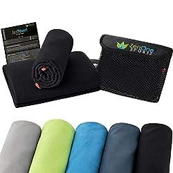 ZenTowel Microfiber Towel I Light & Absorbent I Premium Fitness Towel I Ideal as a sports towel, travel towel & bath towel (50 x 110 cm, black)