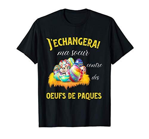 Fête de Pâques - Œufs Chocolats de Pâques - Humour famille T-Shirt