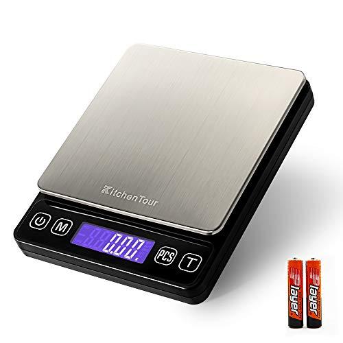KitchenTour Digital Kitchen Scale - 500g/0.01g High Accuracy...