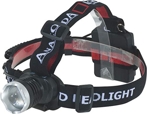 Anaconda Unisex– Erwachsene Headlight T6 2048416 Kopflampe, Schwarz, Gewicht: 128g (ohne Batterien)