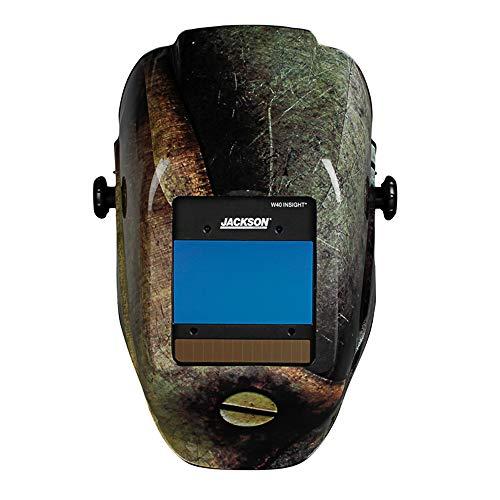 Jackson Safety Ultra-Lightweight Insight Digital Variable Auto Darkening Filter Welding Helmet, Nylon, Halo X, Metal, Universal Size, 46108
