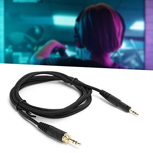 Cabo de áudio de fone de ouvido, cabo de áudio trançado torna o som mais transparente e natural para casa para o laboratório