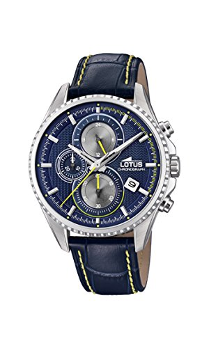 Lotus Watches Reloj Cronógrafo para Hombre de Cuarzo con Co