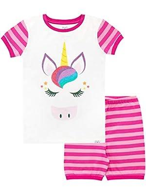 Harry Bear Pijama Corta para niñas Unicornio Rosa 7-8 Años