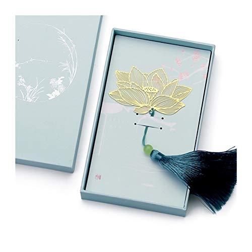 OMYLFQ Marcadores Libros Marcadores, Metal Bookmark with Tassel Craft Craft Creative Bookmark Chinese Classical Style Retro Minimalista Bookmark Marcador