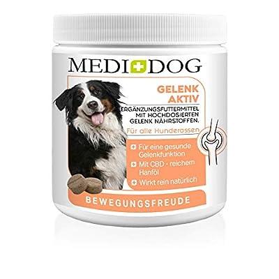 Medidog Gelenktabletten für Hunde mehr Bewegungsfreude und Mobilität, Gelenk-Tabletten mit Grünlippmuschel, Kurkuma, MSM, Teufelskralle, Gelenknährstoffe